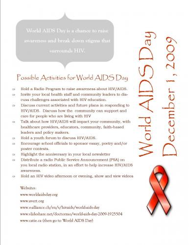 awareness of aids essays Essay on aids awareness – aids essay 1 (350 words) introduction acquired immune deficiency syndrome or aids is a pervasive disease that is caused by hiv or human immunodeficiency virus attacking the immune system of the human body.